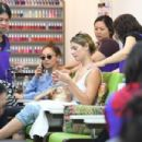 Ashley Greene and Cara Santana at a nail salon in Beverly Hills - 454 x 303