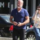 Kelsey Grammer and his wife stop by the Andy LeCompte Salon in West Hollywood, California on September 29, 2015 - 377 x 600