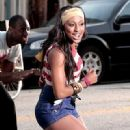 Alexandra Burke Films a Video in LA