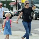 Rebecca Gayheart and her daughter Billie Dane spotted out and about in West Hollywood, California on September 8, 2014 - 454 x 546