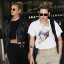 Kristen Stewart and Stella Maxwell – Arrives at LAX International Airport in LA