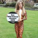 Joanna Krupa – Bodypaint while protesting outside Westminster in London - 454 x 633