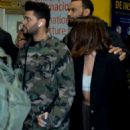 Selena Gomez and The Weeknd at the airport in Sao Paulo