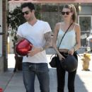 Adam Levine and Behati Prinsloo in Los Feliz, California (August 7)