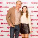 Paul Bettany and Elizabeth Olsen on 'Lorraine' TV show in London - 454 x 744