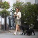 Pippa Middleton – Walking her dogs in London - 454 x 307