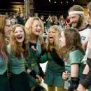 L-R: Kristen Wiig, Drew Barrymore, Zoe Bell, Eve, Ellen Page, Andrew Wilson and Krissy Krash. Photo Credit: Darren Michaels