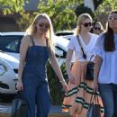 Dakota Fanning with her family out in LA