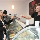 Kyra Sedgwick & Kevin Bacon Visit Stogo Ice Cream Shop