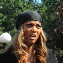 Tyra Banks Filming For The Tyra Banks Show In NYC - Aug 17 2009