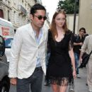 Lily Cole And Enrique Murciano - Christian Dior Paris Fashion Show F/W On July 5, 2010 - 345 x 600