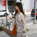 Camila Cabello in Animal Print Jumpsuit – Out in New York