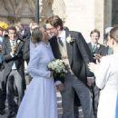 Ellie Goulding at her wedding to to Caspar Jopling in York - 454 x 676