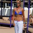 Lady Victoria Hervey in Blue Bikini at the pool in Palm Springs - 454 x 681