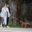 Kelly Brook – Takes a dog walk with boyfriend Jeremy Parisi in London - 454 x 303