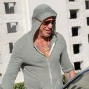 Mickey Rourke is spotted out for lunch at Cafe Roma in Beverly Hills, California on August 15, 2015 - 454 x 569