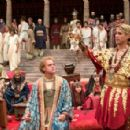 ELLIOT COWAN as a younger Ptolemy and COLIN FARRELL as Alexander the Great in the action adventure drama Alexander, distributed by Warner Bros. Pictures.