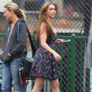 Jennifer Love Hewitt films a scene for an upcoming episode of her hit TV show 'The Client List' in Los Angeles