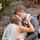 Rebecca Breeds and Luke Mitchell's Wedding - 454 x 193