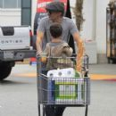 Olivier Martinez and his son Maceo are spotted out grocery shopping at Bristol Farms in West Hollywood, California on April 10, 2016 - 425 x 600