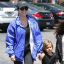Kourtney Kardashian and her kids Penelope and Reign spotted out for lunch at Corner Bakery with some friends in Calabasas, California on June 13, 2016 - 430 x 600