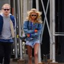Stella Maxwell in Denim Shorts – Out in New York City - 454 x 609