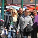 German racing driver Ralf Schumacher out in Saint-Tropez with wife Cora-Caroline Brinkmann and son David