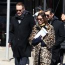 Alexa Chung & Alexander Skarsgard Out And About In NYC ( March 23, 2017) - 454 x 525