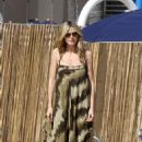 Heidi Klum Takes Her Kids To the Beach in Santa Monica