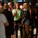 Irina Shayk with Stella Maxwell – Hits the Town for a Night out in NY