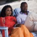 Patricia (Janet Jackson) and Gavin (Malik Yoba) in TYLER PERRY'S WHY DID I GET MARRIED TOO?. Photo credit: Quantrell Colbert.