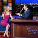 Leslie Mann on The Late Show With Stephen Colbert in NYC - 454 x 303