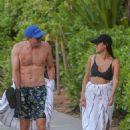 Jamie Chung – In bikini filming in Hawaii - 454 x 681