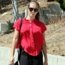 Pregnant actress Teresa Palmer stopping by the Berlin Wellness Group to pick up some pregnancy information in Los Angeles, California on August 20, 2013
