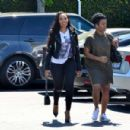 Angela Simmons in Jeans Shopping in Beverly Hills