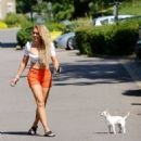 Aisleyne Horgan Wallace – Out for a dog walk out in London - 454 x 523