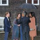 Prince William, Duchess Catherine and Harry dine with President Obama - 454 x 587