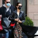 Bella Hadid – Pictured with her bodyguard while leaving her hotel and jetting off from Milan - 454 x 690