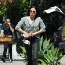 Aubrey Plaza in Jeans – Out in West Hollywood