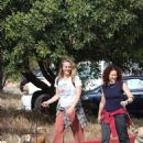 Alicia Silverstone – Walks her dogs with a friend in Los Angeles