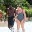 Iskra Lawrence and Philip Payne at Mountain Creek Water Park in New Jersey - 454 x 528