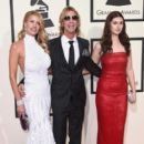 Model Susan Holmes-McKagan, recording artist Duff McKagan and Mae McKagan attend The 58th GRAMMY Awards at Staples Center on February 15, 2016 in Los Angeles, California. - 399 x 600