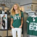 Jessica Hart: attends The Jets Game to Celebrate the NFL Victoria's Secret PINK Collection at MetLife Stadium