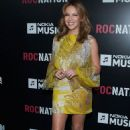 KYLIE MINOGUE at Roc Nation Pre-GRAMMY Brunch at Soho House in Hollywood