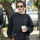 Kristen Stewart In Jeans Out and About In Los Angeles