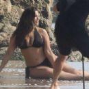 Ashley Graham in Bikini – On a Photoshoot on the beach in Malibu - 454 x 303