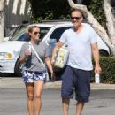 Reese Witherspoon is seen going to the market with husband Jim Toth in Los Angeles, California on June 19, 2016