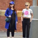 Kristen Stewart with friend out in New York City - 454 x 536