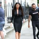 Alice Goodwin in Black Ttight Dress – Eexits 'Celebs Go Dating' with Jermaine Pennant in London - 454 x 620