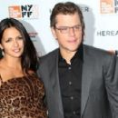 Luciana Barroso and Matt Damon -  Family